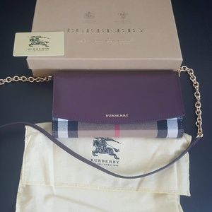 NWOT Burberry House Check and Leather Crossbody